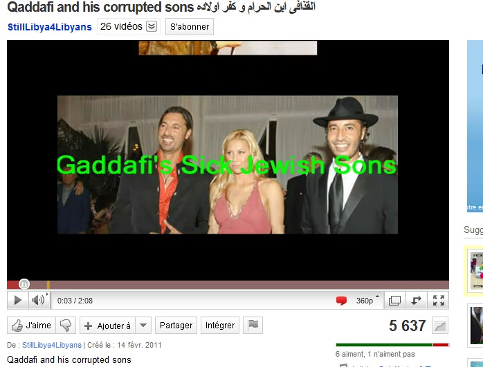 Radical Islamist are circulating lies about Gadhafi's sons