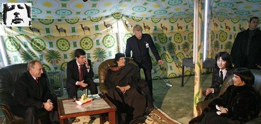 Mu w Marielle Mathieu in Tent w Putin