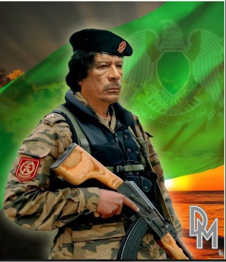 Muammar armed Commander of the Green Resistance