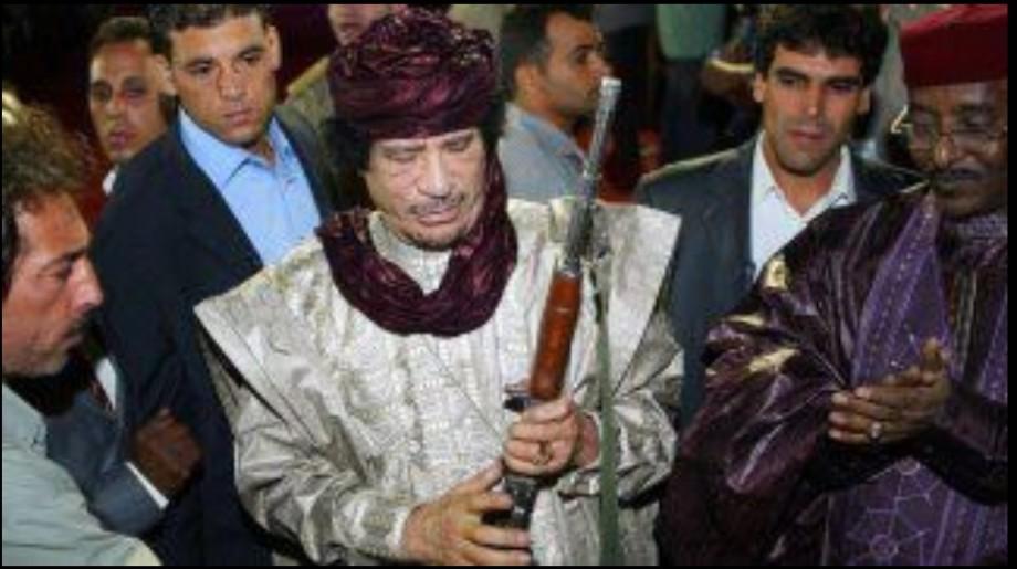 Muammar with Kasmicalov rifle