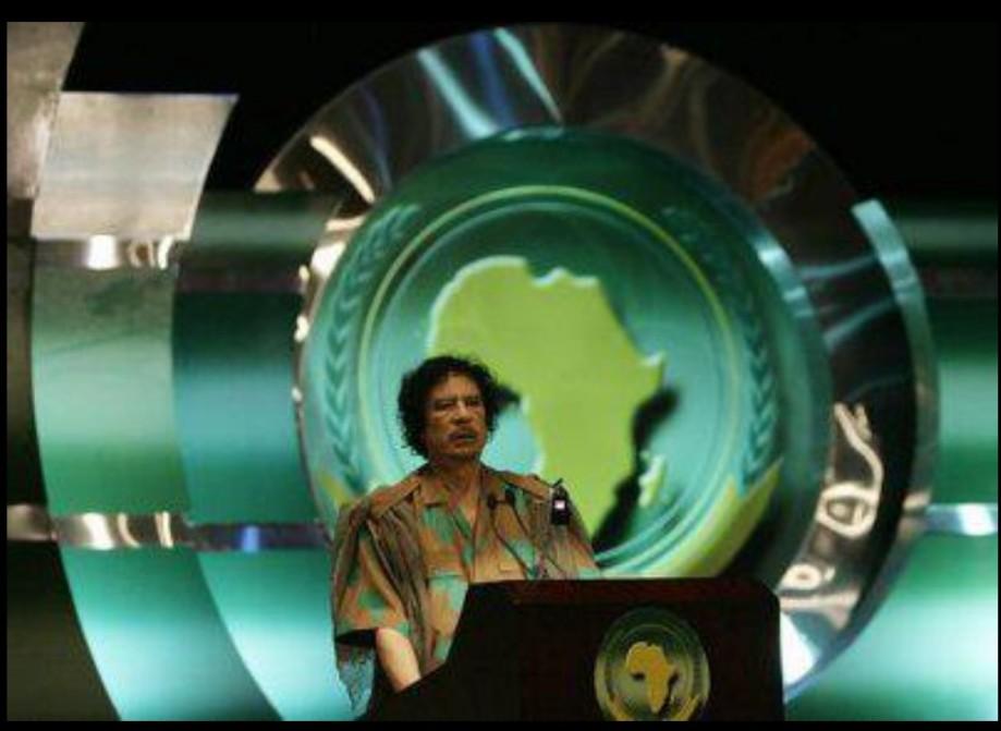 Muammar speaks at African Union