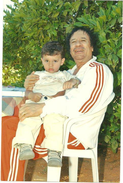 Gadhafi and grandson