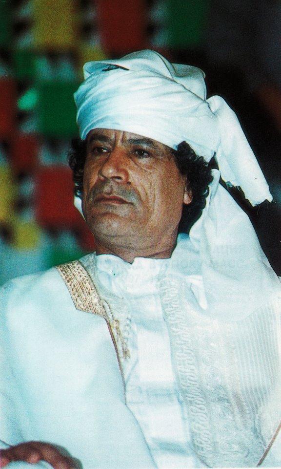 Muammar, dashing in white