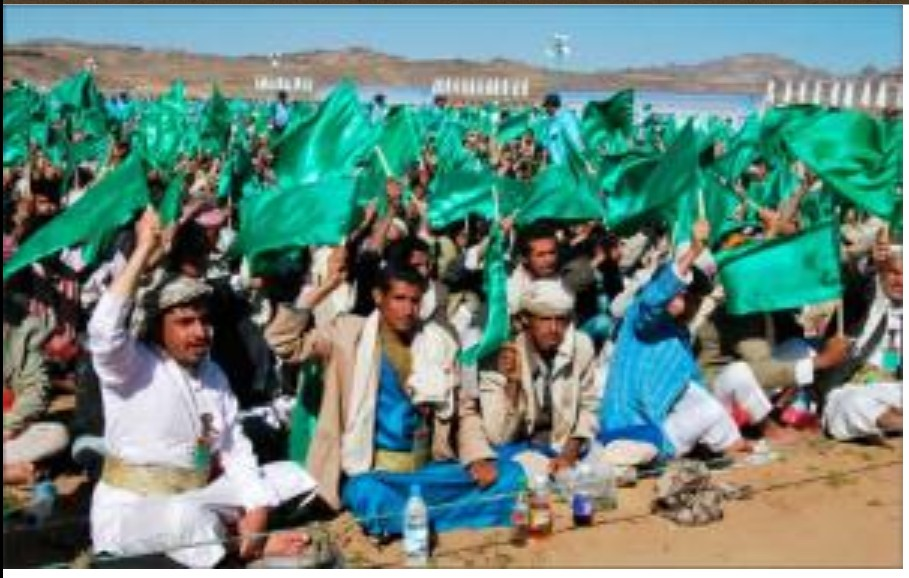 Houthi wave Green Flags on the Prophet's (PBUH) Birthday