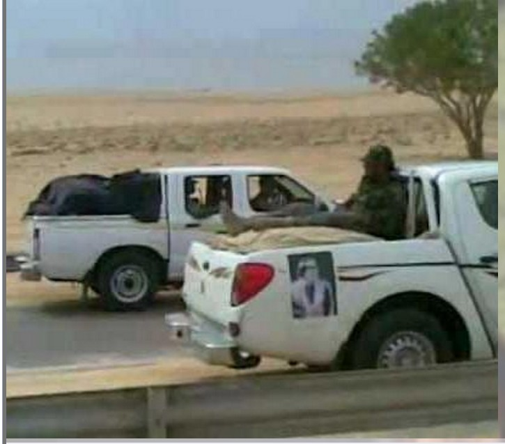 Red Army arriving in Tripoli