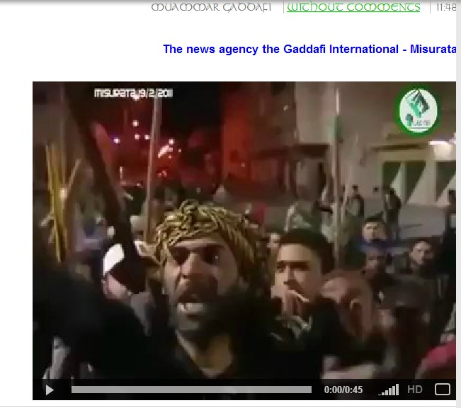 Misurata traitors raise the flag of Israel