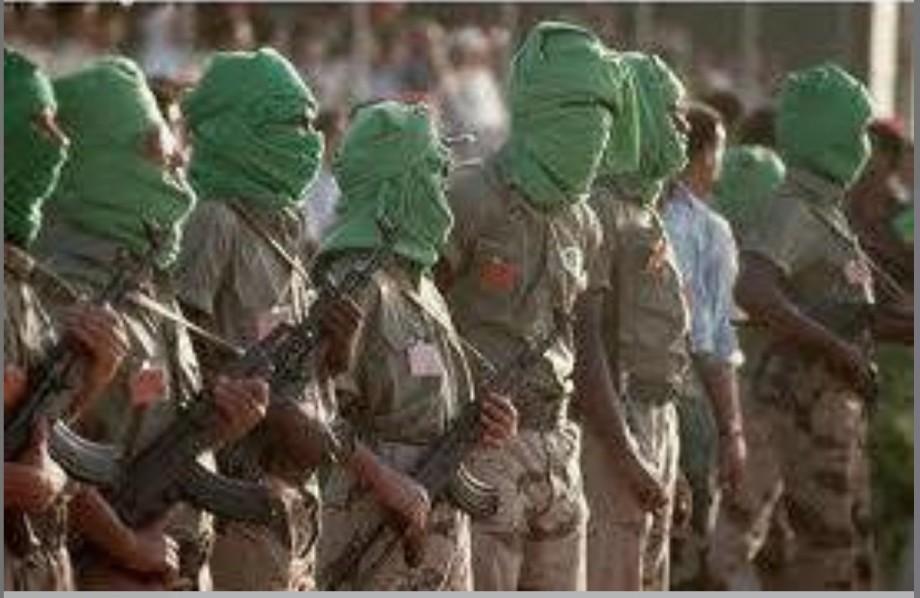 Great Jamahiriya Green Resistance soldiers