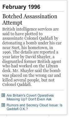 Timeline February 1986 Botched assasinationof Mu by Brits