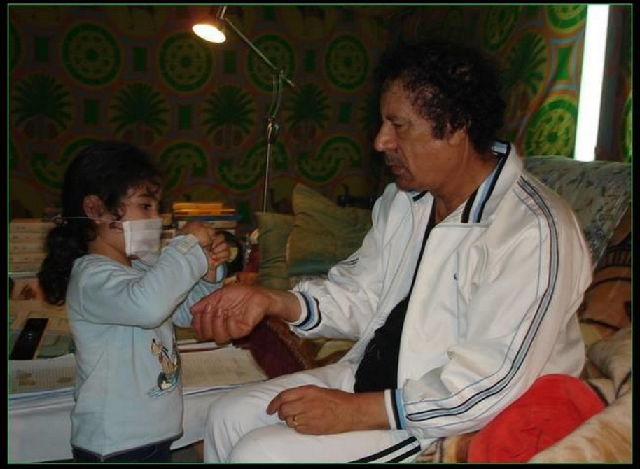 Mu playing  patient and doctor w his granddaughter