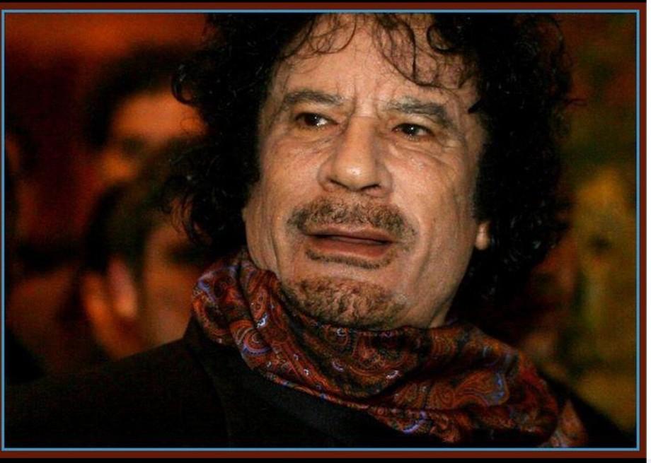 Muammar  al Qathafi in Paris 05 DEC 2007