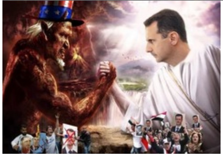 Bashear Assad fights the Devil