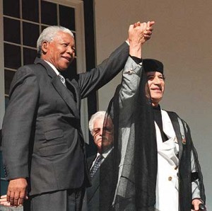 Gadhafi and Mandela
