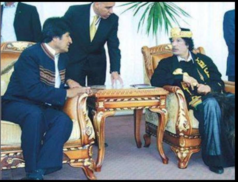 Mu and Evor Morales of Bolivia