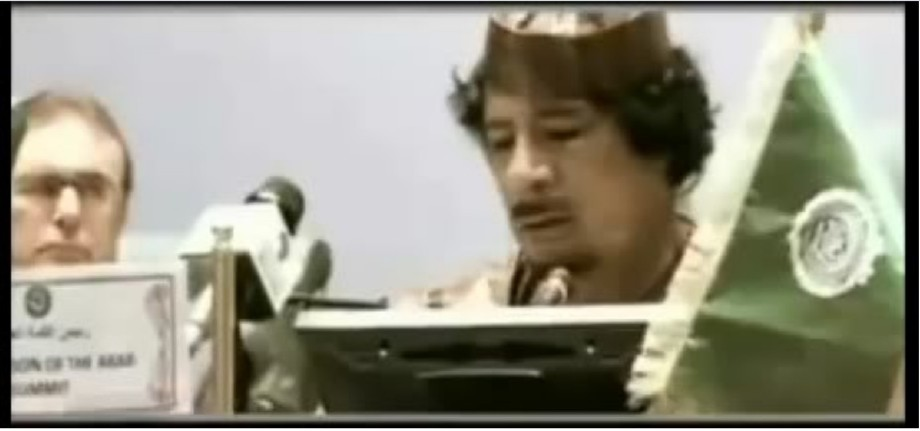 Gadhafi speech One