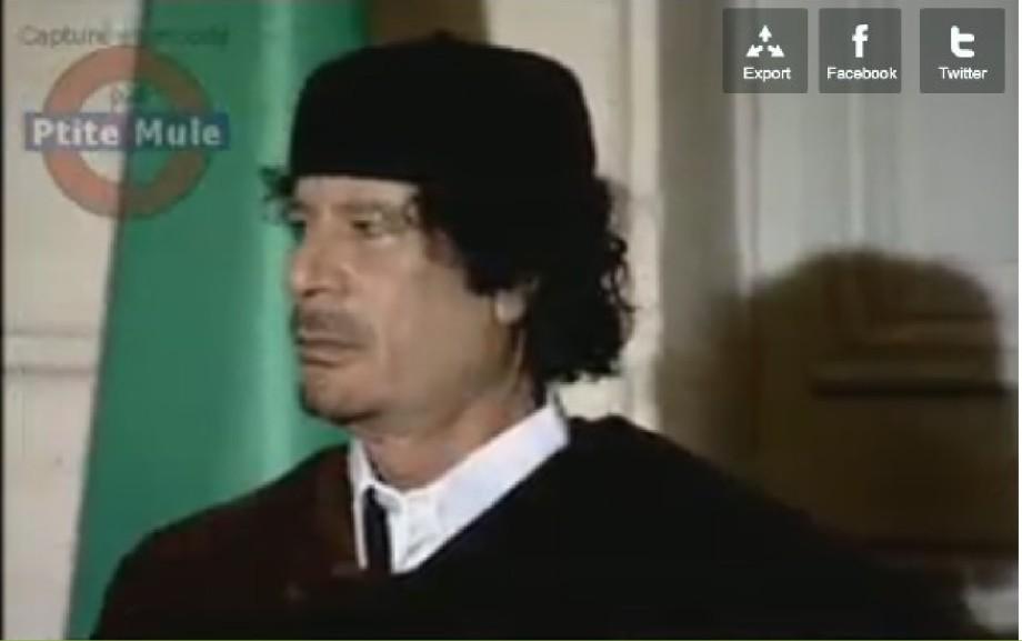 Kaddafi à Paris 2