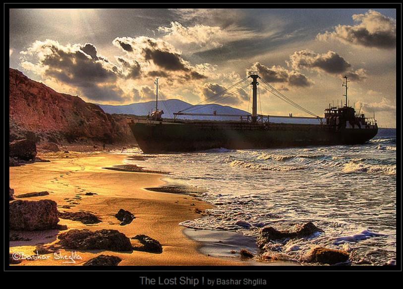 Derna lost ship off Port