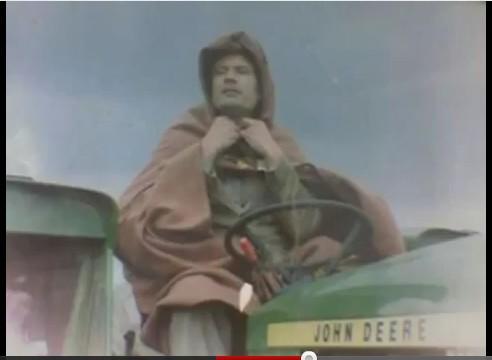 Gadhafi on John Deere Tractor, 3