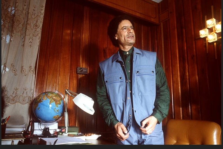 Le 2 février 1986, il s'adresse aux journalistes durant le meeting du «haut commandement des forces révolutionnaires de la nation arabe