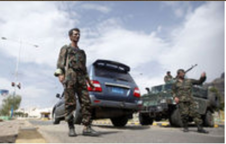 Libyan Army check-point