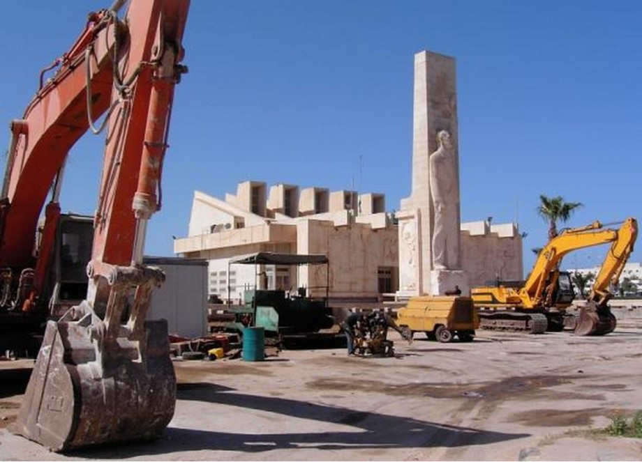 NASAR memorial in Benghazi,  destroyed by vandals in 2011