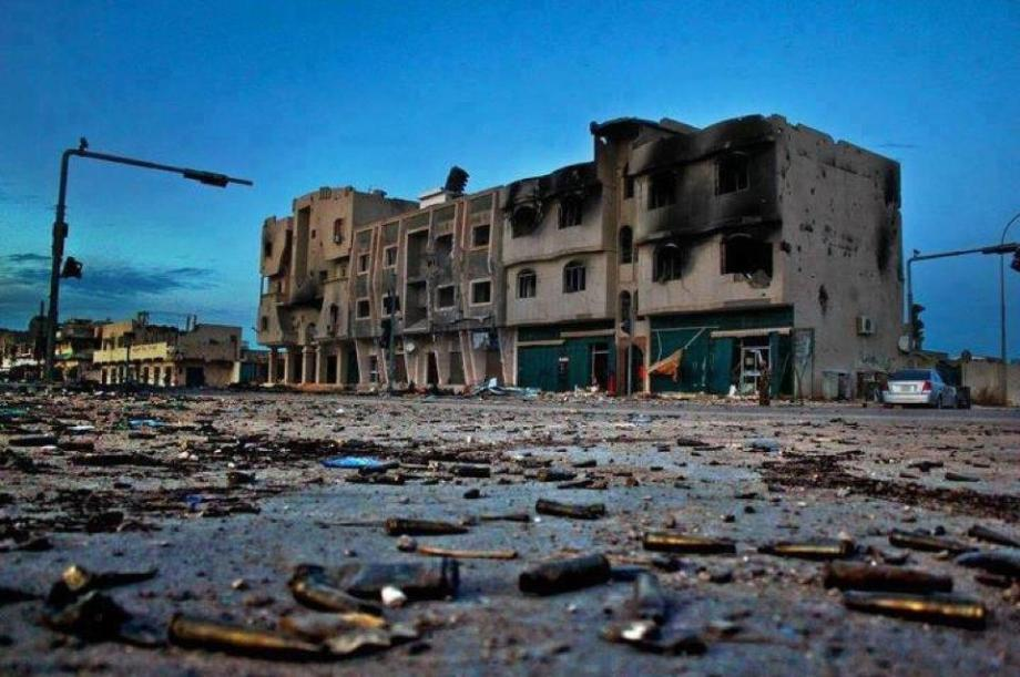 Sirte bombed by NATO