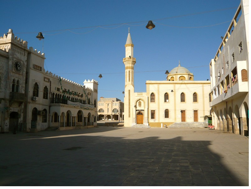 Square in Benghazi on holiday