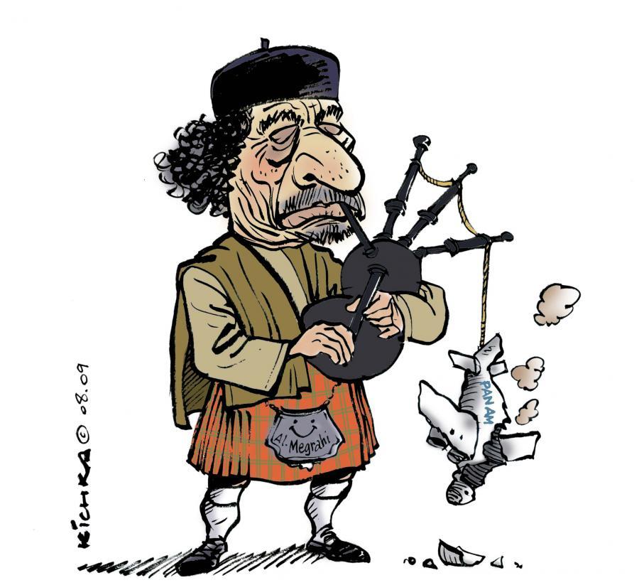 gaddafi-lockerbie evil portrayale