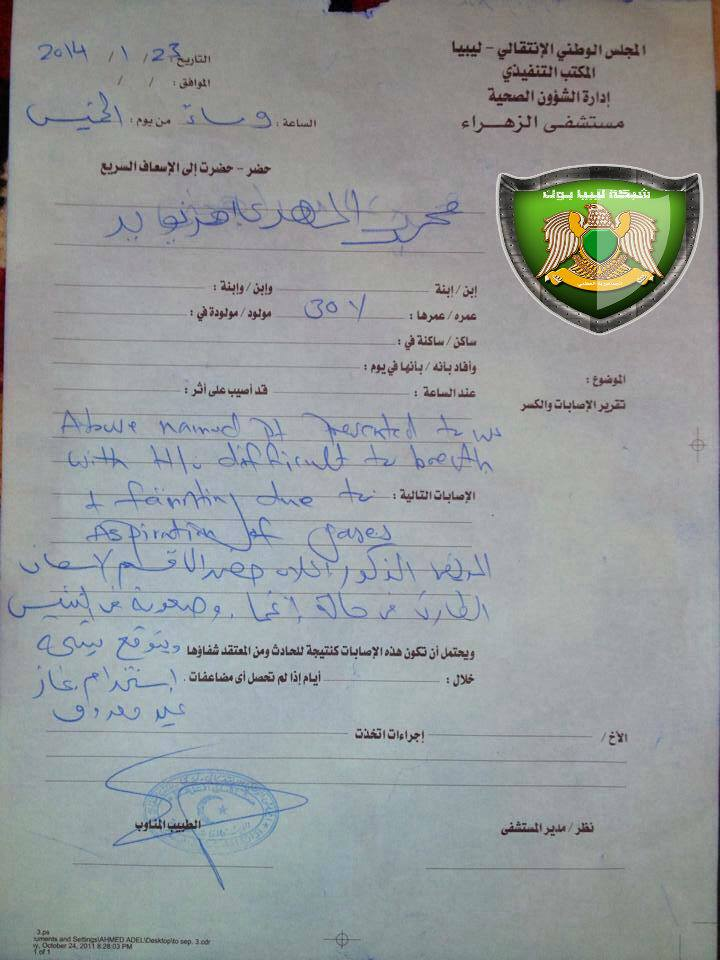 Intelligence report of paying mercenaries to kill, p2 24 JAN. 2014