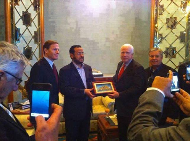 John McCAIN honors Abdul Hakim BelHadj
