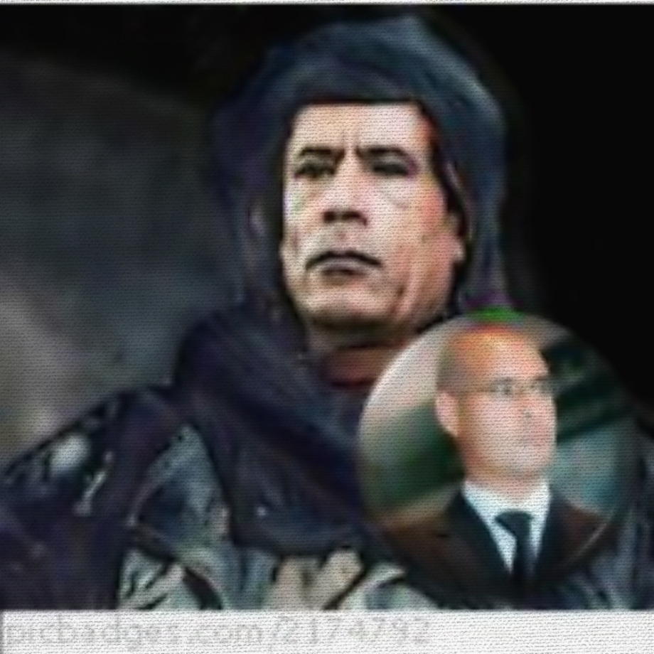 Gadhafi and son, Saif