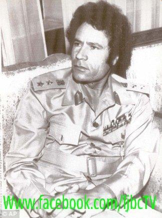 Gadhafi, young warrior
