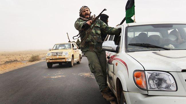 SALAFI rebel militiamen in  Libya