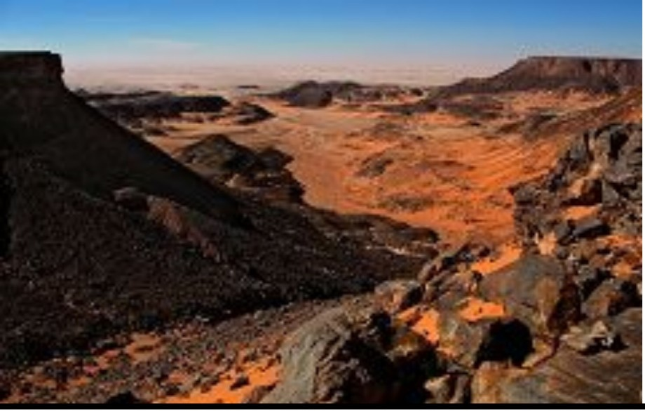 Valey Rouge and Canyon in Libya