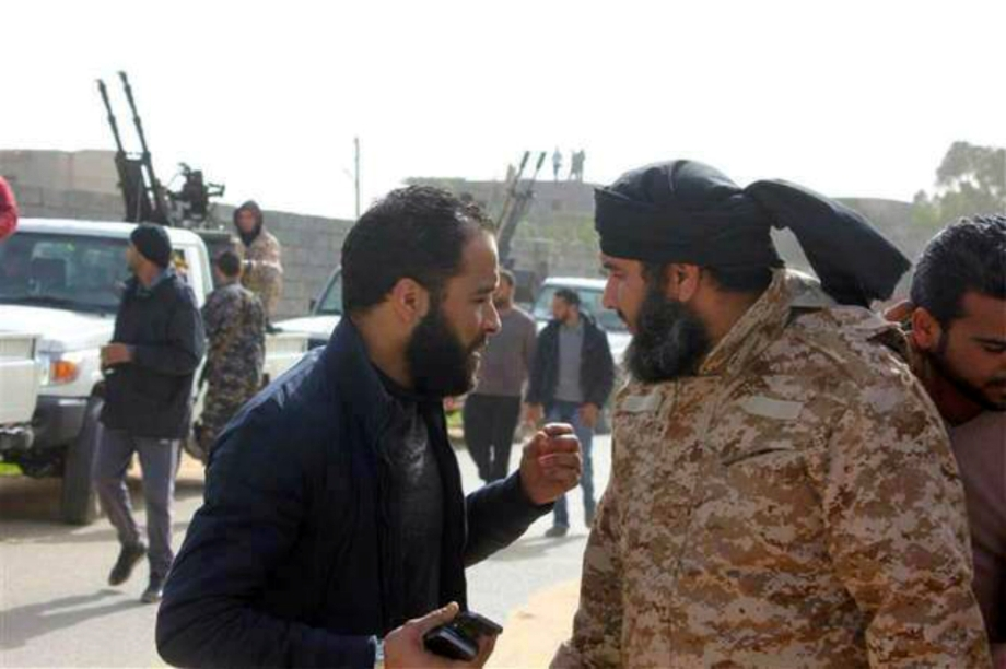 despicable Haitham Tagouris and his militia regement at Camp