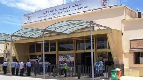 ENTRENCE FRONT OF BENINA AIRPORT BENGHAZI
