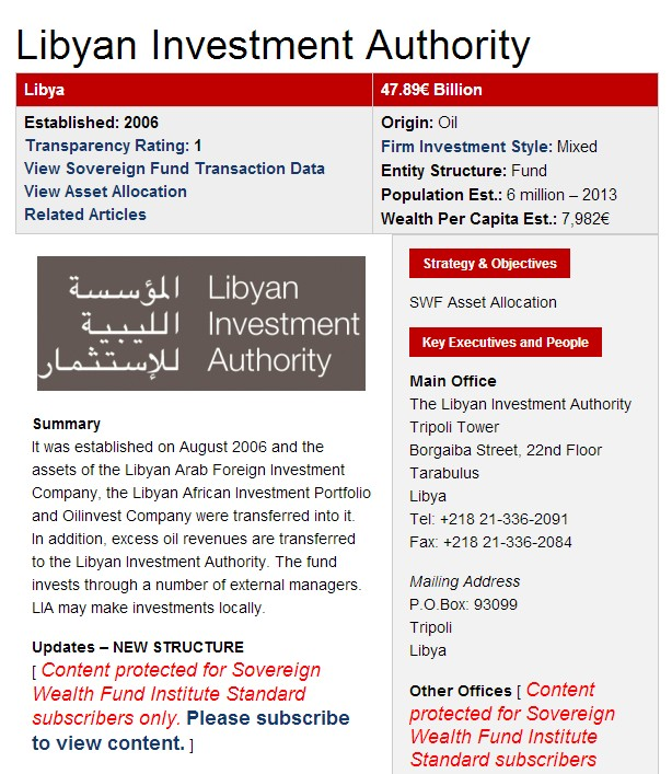 Libyan-African Investment Authority, p1