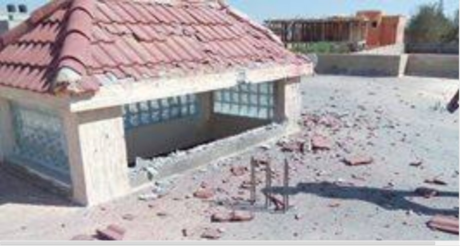 House damage on 01 MAY 2014 from NATO bombs, 3