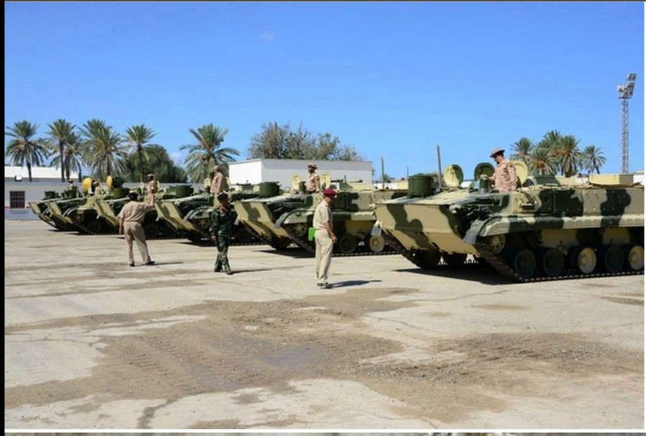 BMP3s being handed over by the Russians at Mitiga Airbase, Tripoli