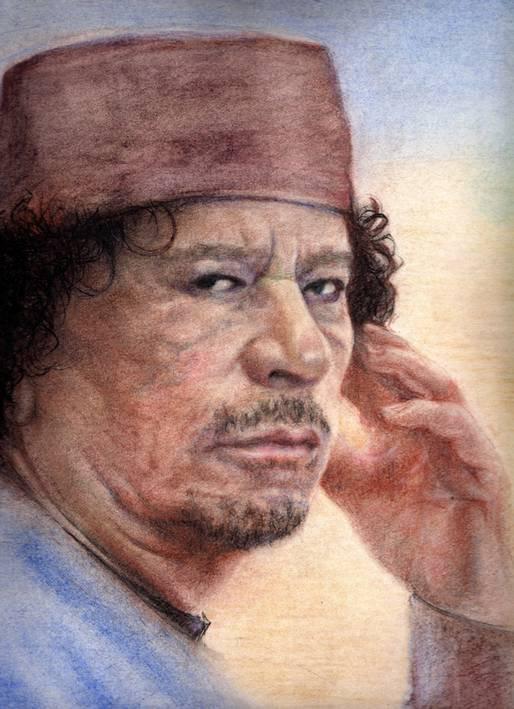 Gadhafi painting