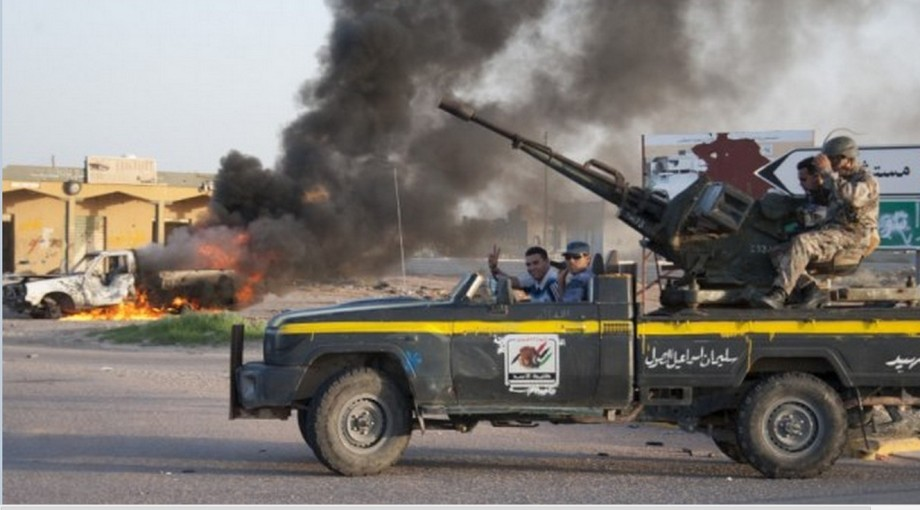 Nuri Bushmin sends his troops to attack BANI WALID, first 2011