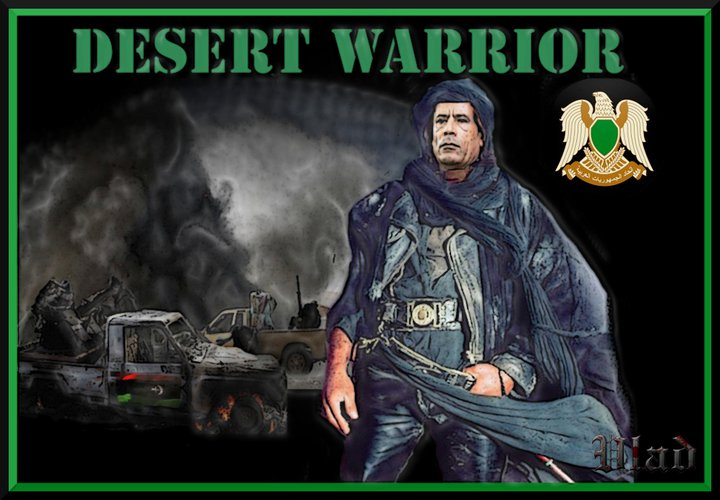 Gadhafi, desert warrior