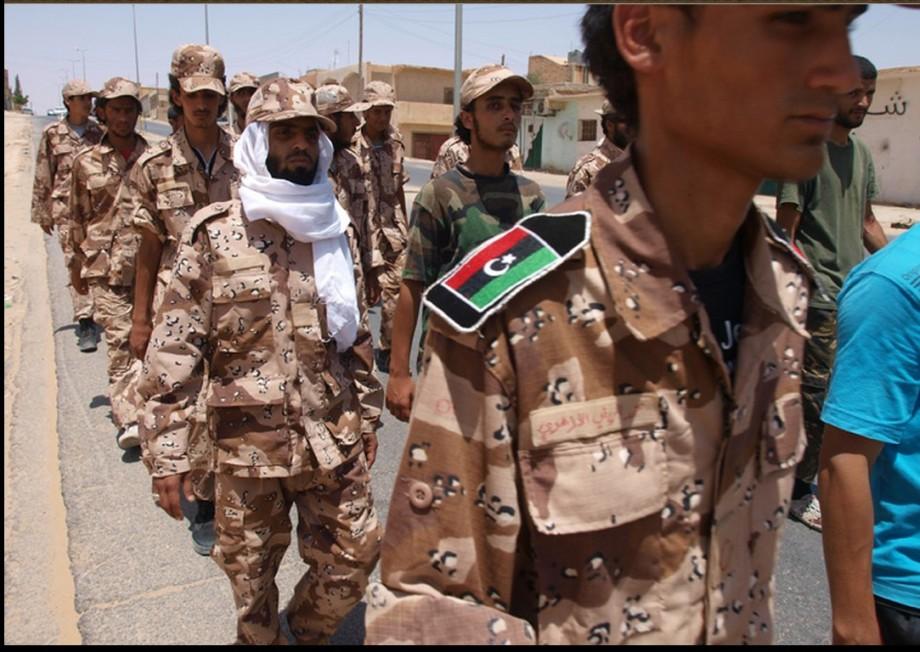 Zintan Army trainees