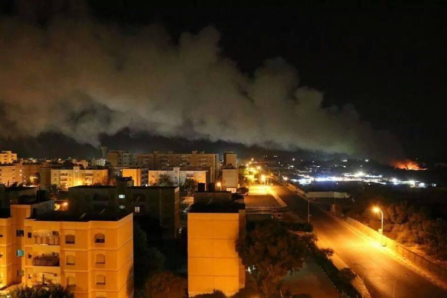 Ansar al-Sharia burn Taurigha Camp in Garyounes, 2
