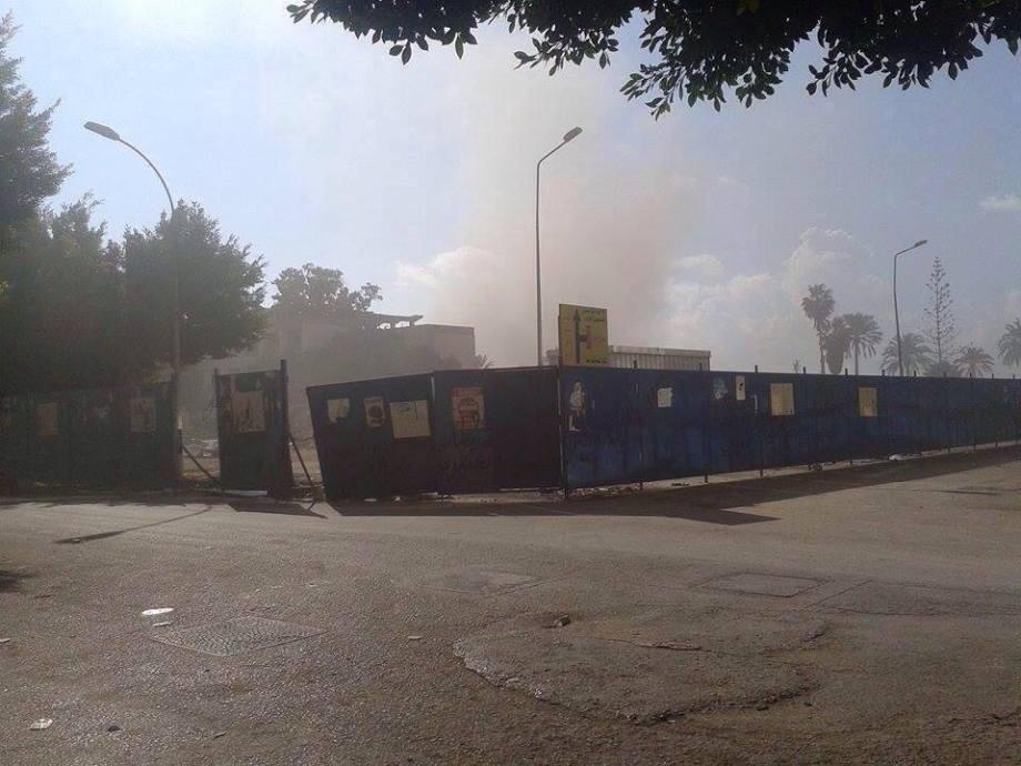 Benghazi under fire, 2