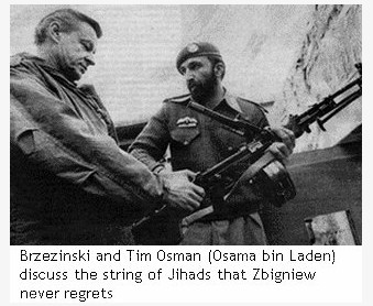 Bin Laden a.k.a. Tim Osman with Brezinski pic