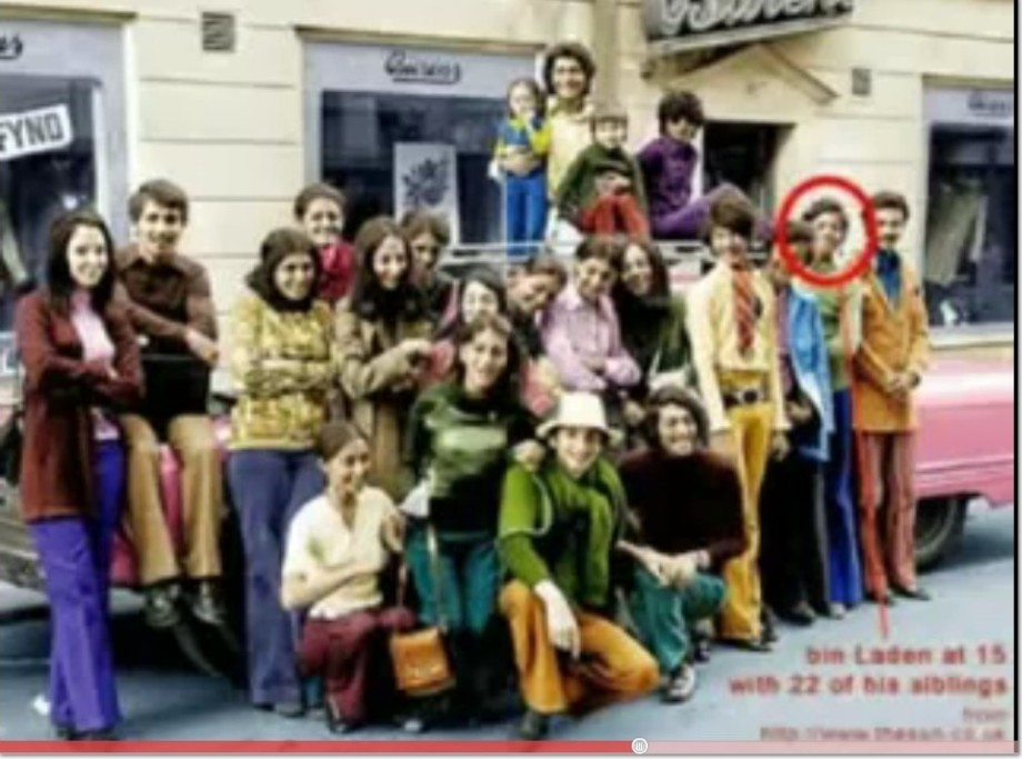 Bin Laden at 15, w-22 siblings, living in USA, 2