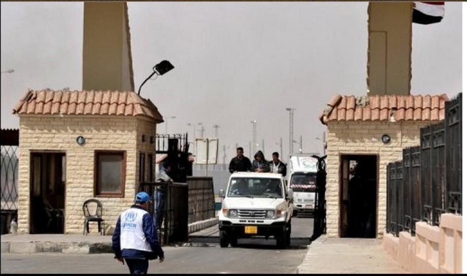 Egyptian Libyan border at Saloum, 2