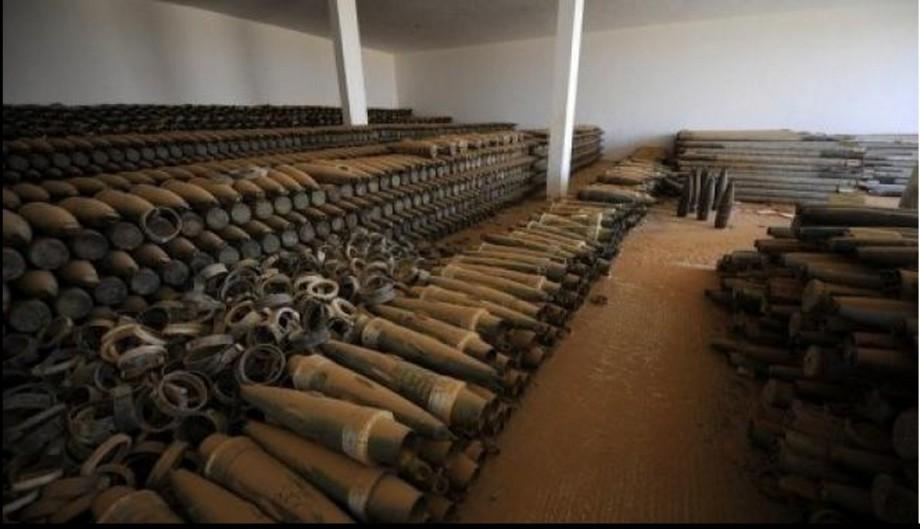 ammo reserve in al-Jufra