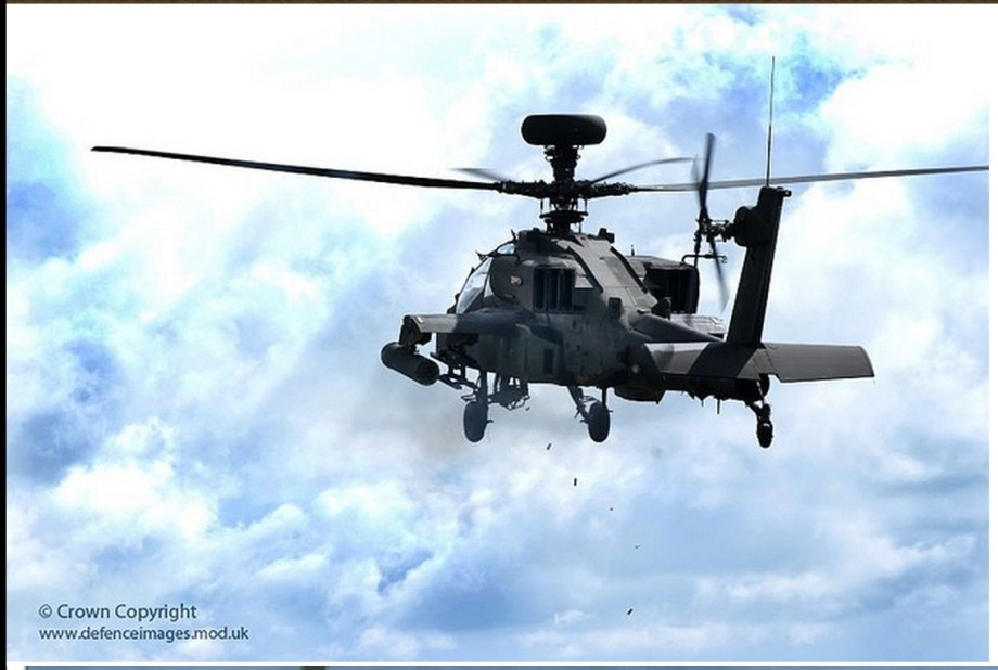 Apaché helicopter firing
