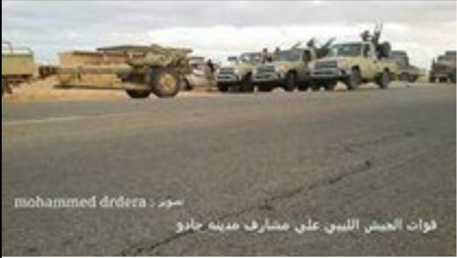 Army on the outskirts of Jadu